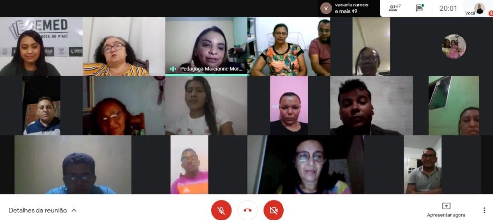 Jornada Pedagógica Online reúne educadores da rede municipal de ensino de Santa Rosa