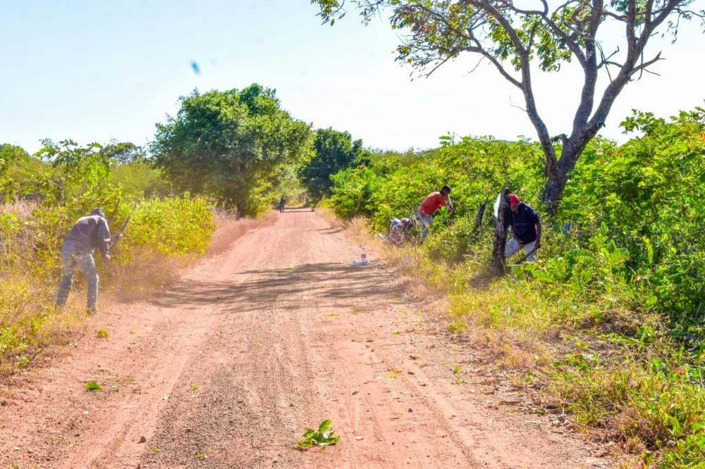 Prefeitura de Santa Rosa realiza serviços de recuperação e roço na zona rural