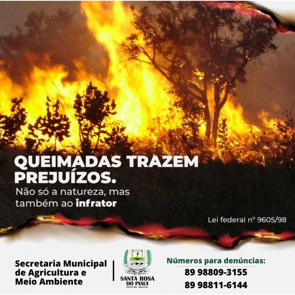 Prefeitura de Santa Rosa lança campanha contra queimadas