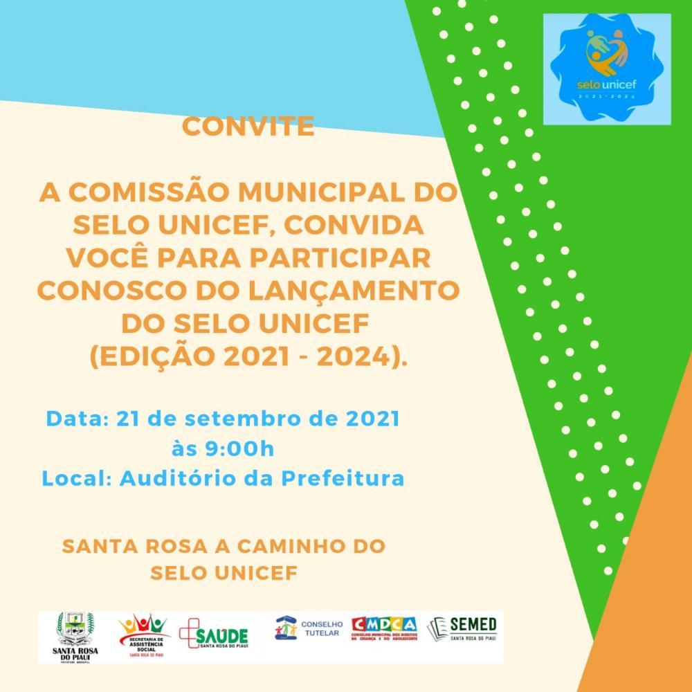 Articulação Municipal de Santa Rosa convida população para Lançamento do Selo Unicef