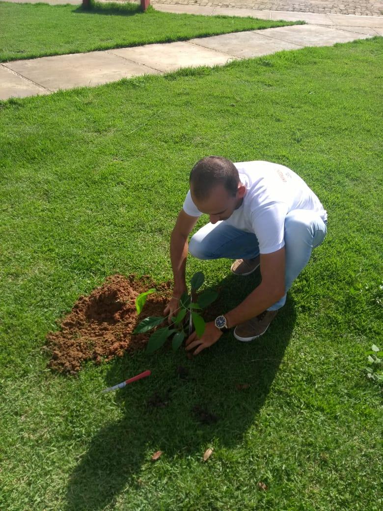 Secretários realizam plantio de arvores em Santa Rosa do Piauí