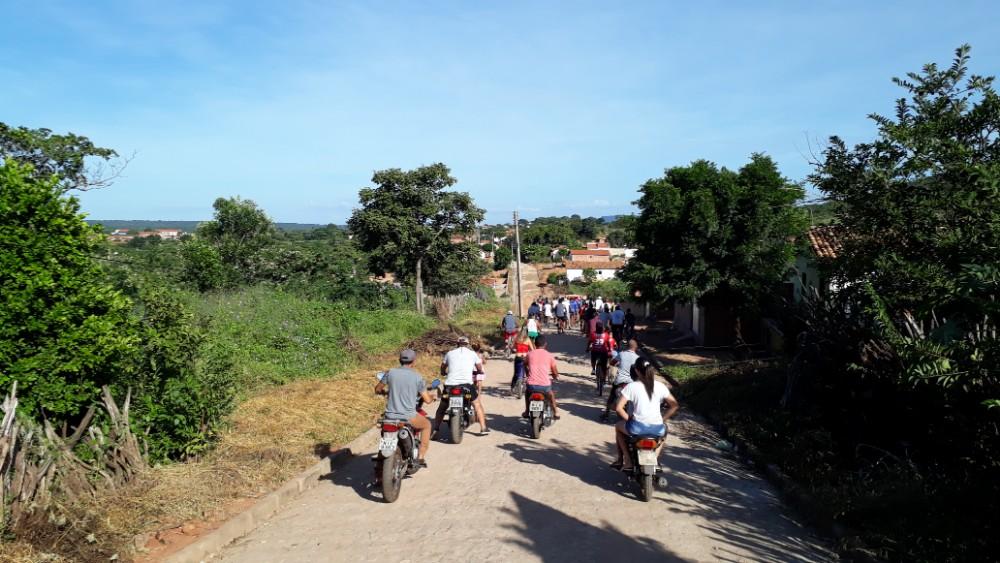 Passeio ciclístico abre o terceiro dia de comemorações ao aniversário de Santa Rosa do Piauí