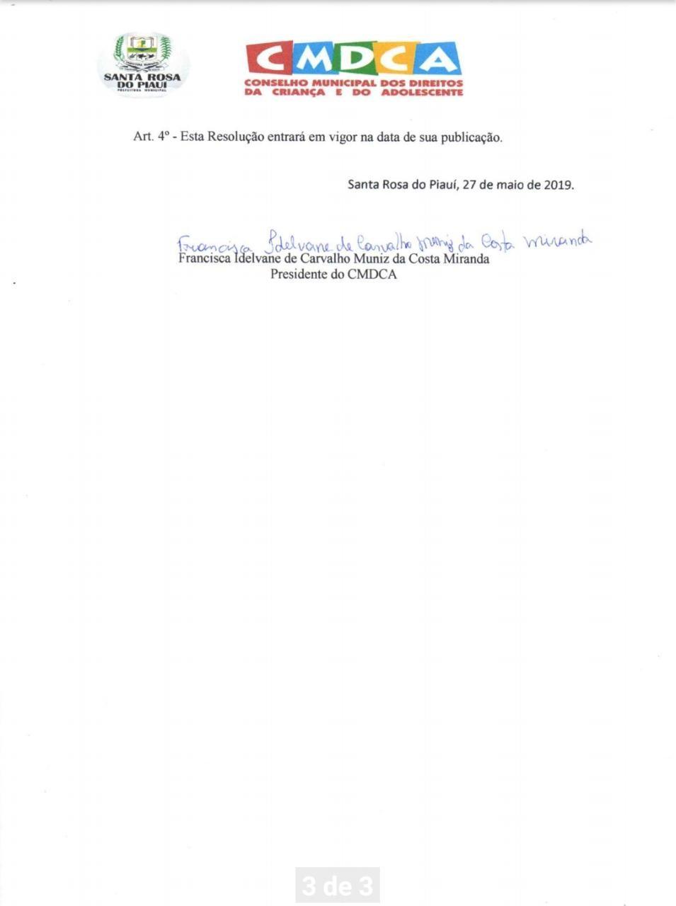 CMDCA de Santa Rosa do Piauí reabre inscrições para eleição unificada do conselho tutelar