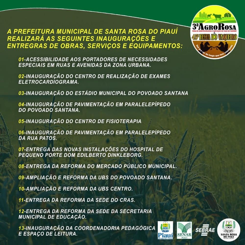 Confira a programação completa da 3ª AgroRosa e 45ª Festa do Vaqueiro, que acontece de 25 a 28 de julho