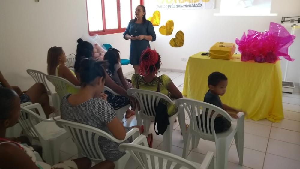 """""""Agosto Dourado"""": Saúde promove palestras sobre a importância da amamentação em Santa Rosa"""