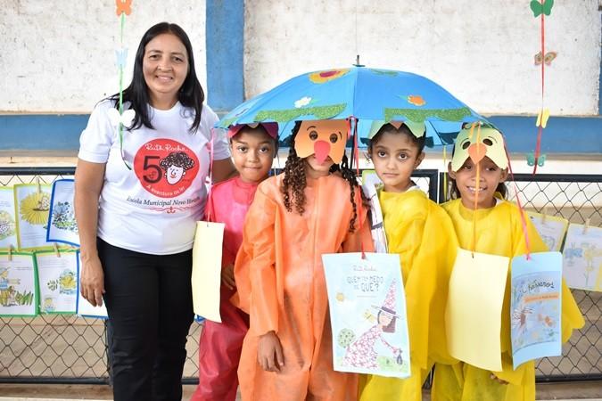 """Projeto Escolar """"Lendo com Ruth Rocha"""" incentiva alunos a desvendar o mundo da literatura infantil"""