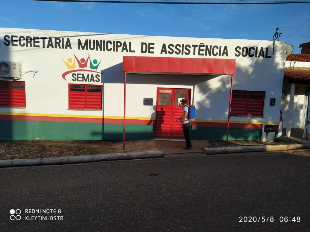 Prefeitura executa novamente serviços de desinfecção no combate ao novo coronavírus em Santa Rosa
