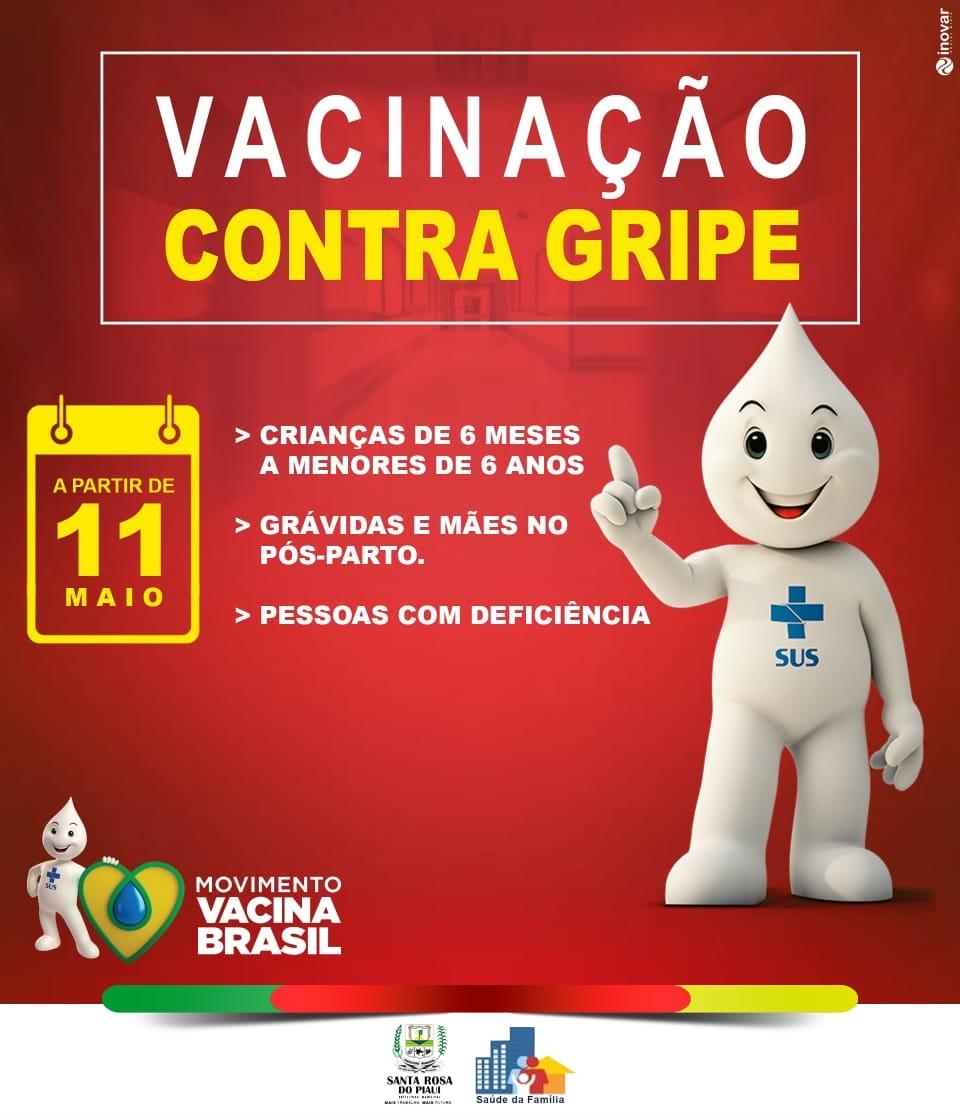 Terceira etapa da Campanha de Vacinação contra a Gripe começou nesta segunda-feira (11) em Santa Rosa