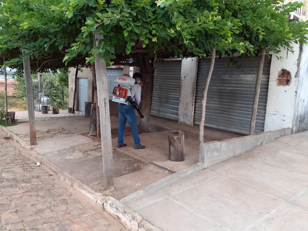 Saúde faz semanalmente ações de desinfecção em áreas públicas em Santa Rosa