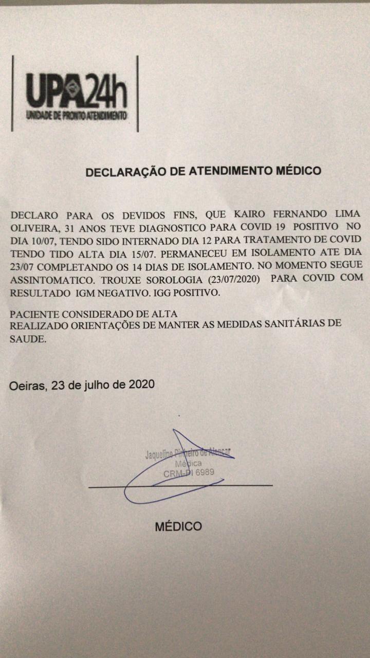 Procurador Geral do Município de Santa Rosa Kairo Fernando tem alta após ser curado da COVID 19