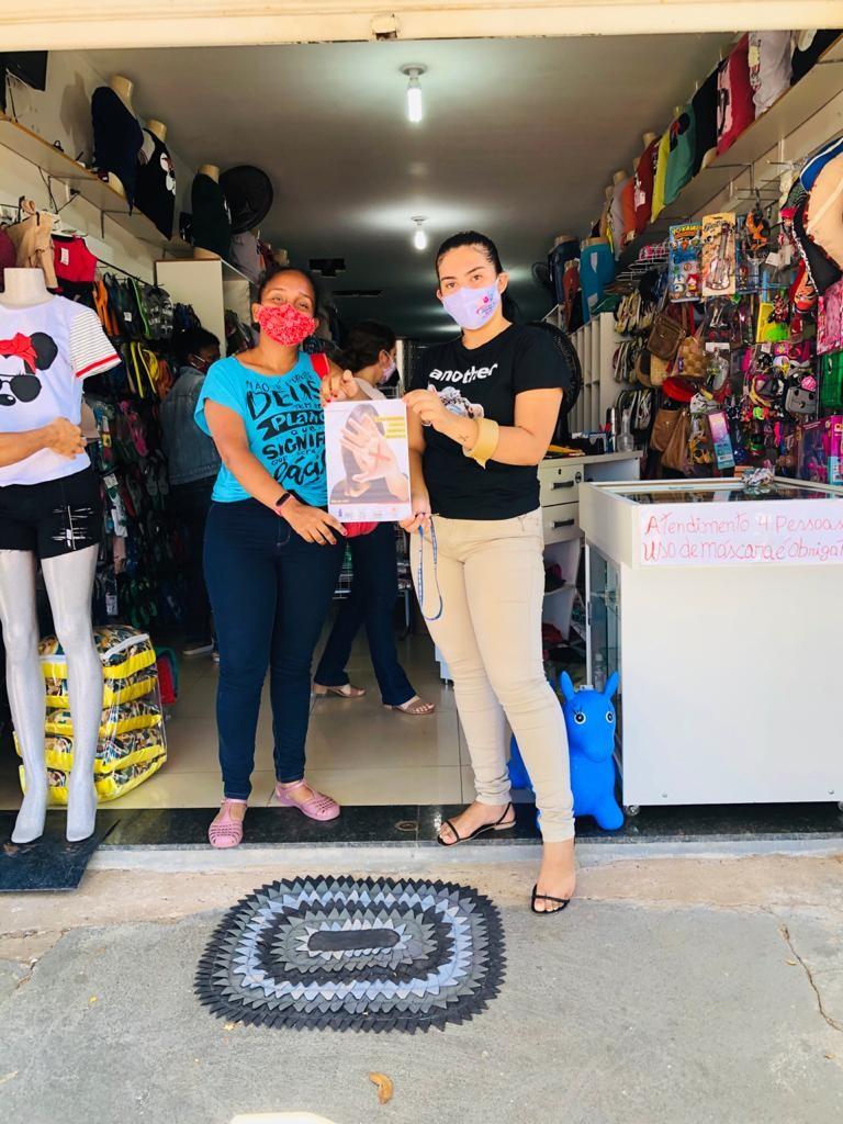 Secretaria de Assistência Social está realizando a campanha contra a violência doméstica em Santa Rosa do Piauí