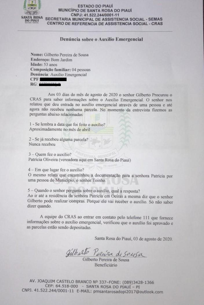 Exclusivo: vereadora Patrícia Oliveira tem seu mandato cassado após acusação de golpe em auxílio
